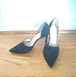 Zara black suede heels EUC size 40